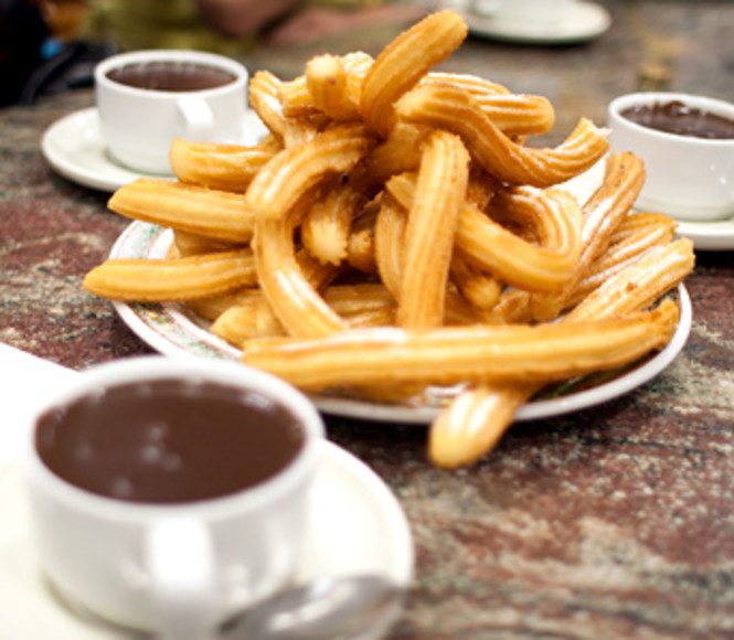 Churros con chocolate -  Costa del Sol