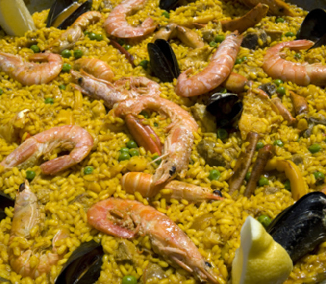 <p>Paella with squid   </p> -  Costa Blanca